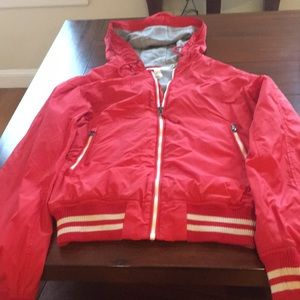 Preowned H&M S Red lightweight Zip up jacket